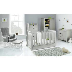 Obaby Stamford Classic 5 Piece Room Set - Warm Grey