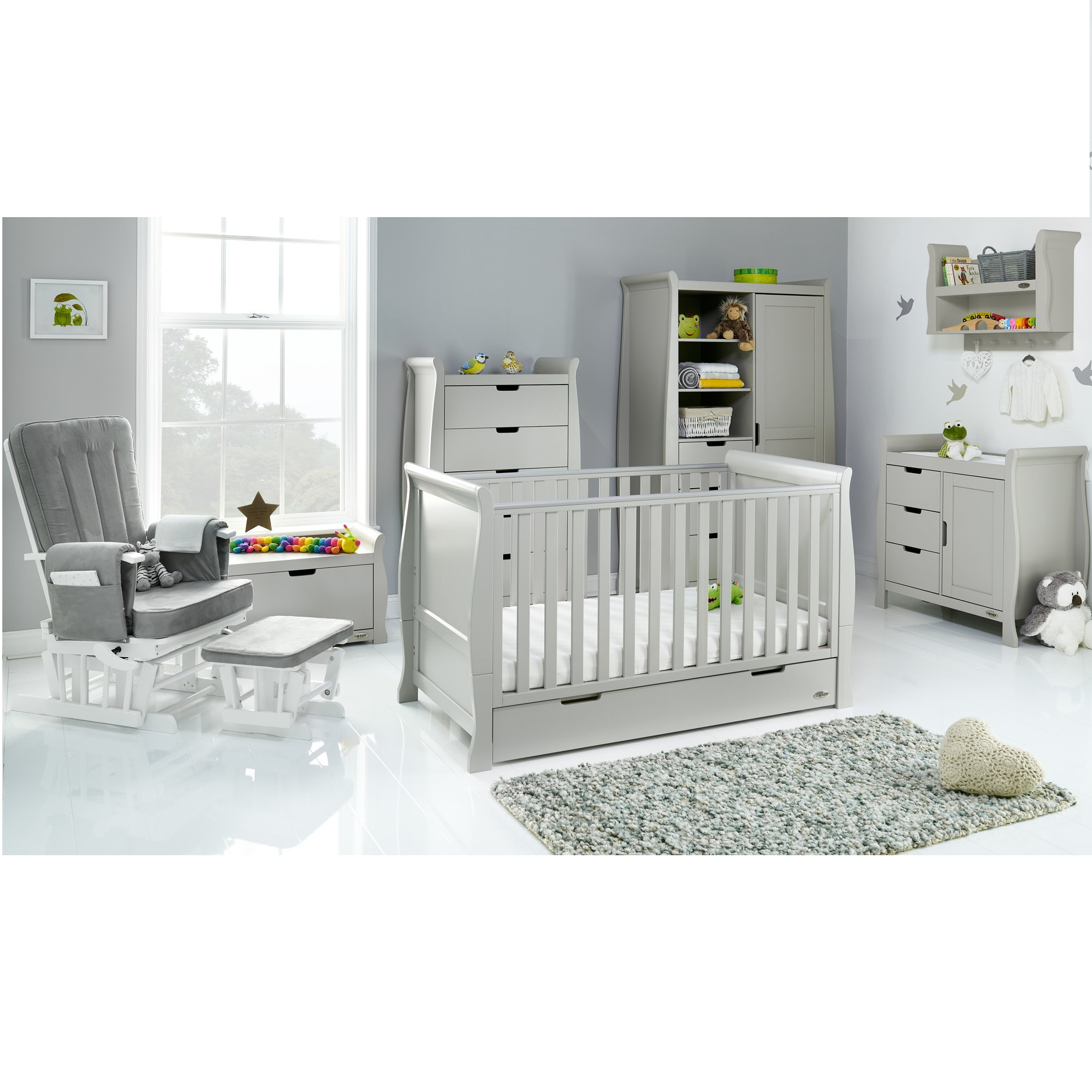 Obaby Stamford Classic 7 Piece Nursery Room Set