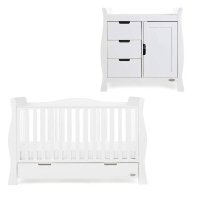 Obaby Stamford Luxe 2 Piece Room Set - White