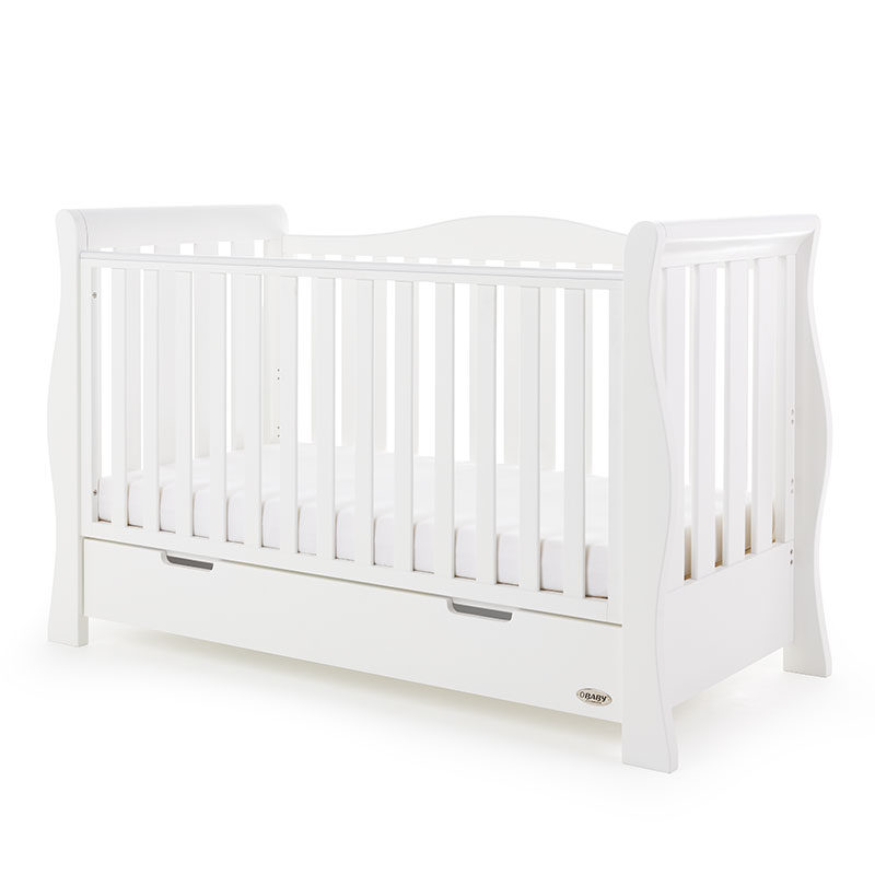 White Obaby Grace Cot Bed With Luxury