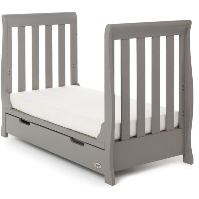Obaby Stamford Mini Sleigh 2 Piece Room Set - Taupe Grey 5