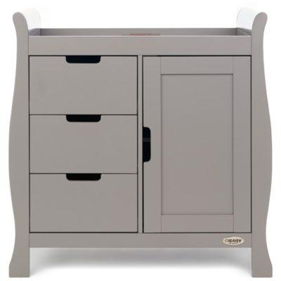 Obaby Stamford Mini Sleigh 2 Piece Room Set - Taupe Grey 6