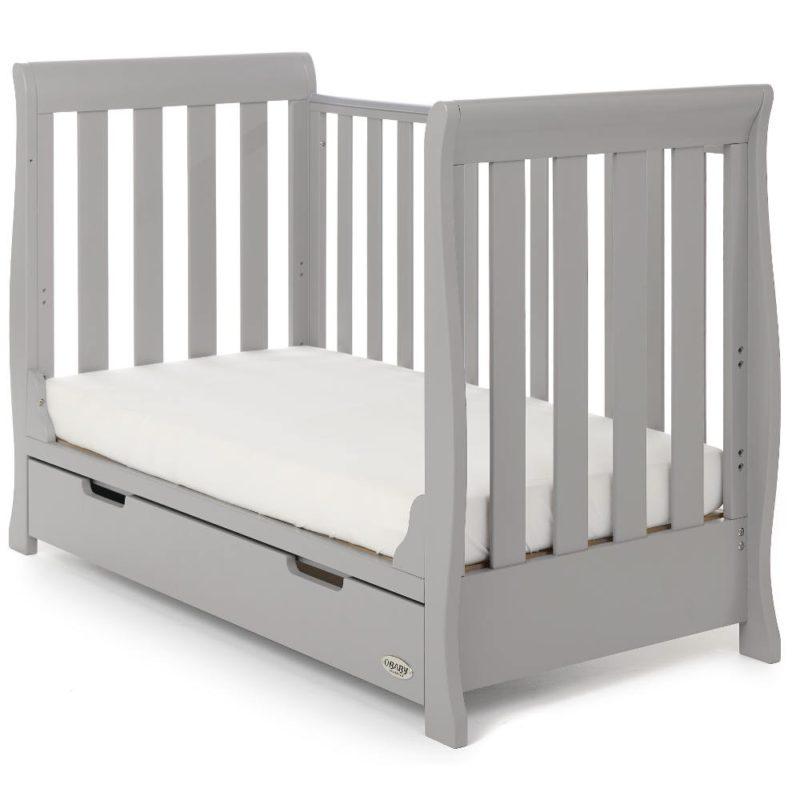 Obaby Stamford Mini Sleigh 2 Piece Room Set - Warm Grey 4