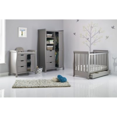 Obaby Stamford Mini Sleigh 3 Piece Room Set - Taupe Grey 2
