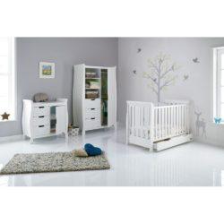 Obaby Stamford Mini Sleigh 3 Piece Room Set - White 2