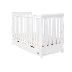 Obaby Stamford Mini Sleigh Cot Bed - White