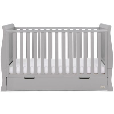 Obaby Stamford Sleigh 2 Piece Room Set - Warm Grey 5