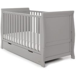 Obaby Stamford Sleigh 3 Piece Room Set - Warm Grey 2