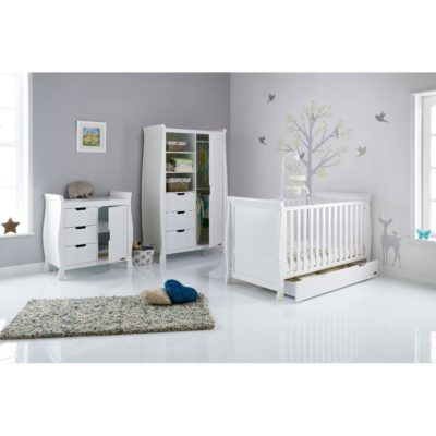 Obaby Stamford Sleigh 3 Piece Room Set - White 2