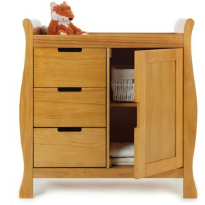 Obaby Stamford Sleigh Changing Unit - Country Pine 2