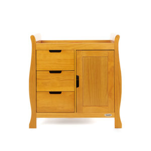 Obaby Stamford Sleigh Changing Unit - Country Pine