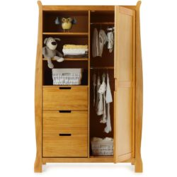 Obaby Stamford Sleigh Double Wardrobe - Country Pine 2