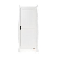 Obaby Stamford Sleigh Single Wardrobe - White