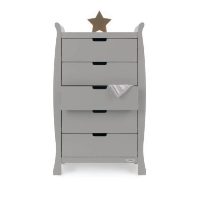 Obaby Stamford Sleigh Tall Chest of Drawers - Warm Grey 2
