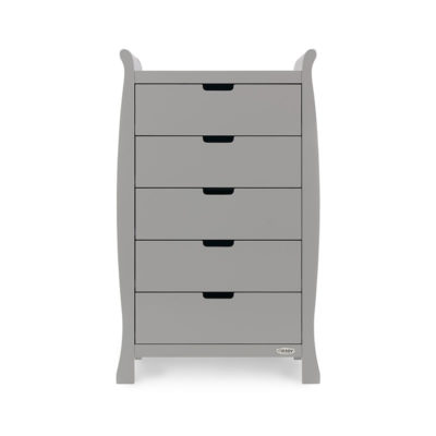 Obaby Stamford Sleigh Tall Chest of Drawers - Warm Grey