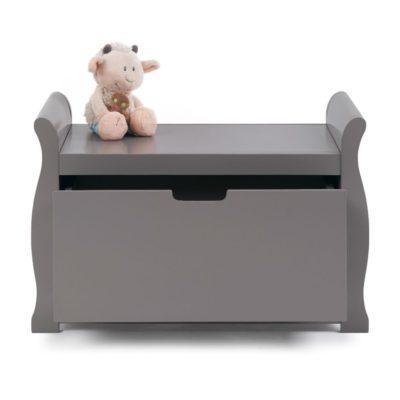 Obaby Stamford Sleigh Toy Box - Taupe Grey 2