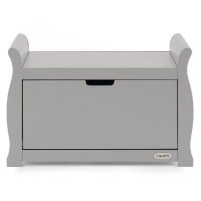 Obaby Stamford Sleigh Toy Box - Warm Grey