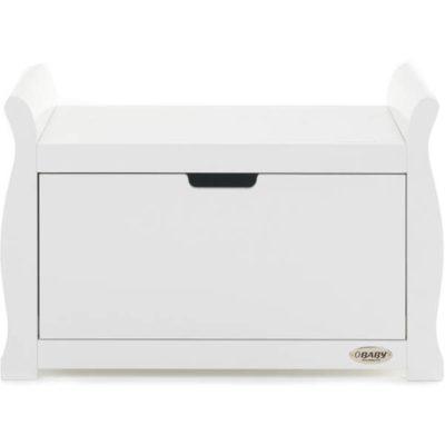 Obaby Stamford Sleigh Toy Box - White 2
