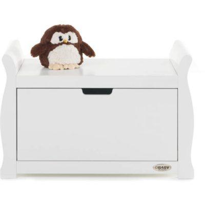 Obaby Stamford Sleigh Toy Box - White 3