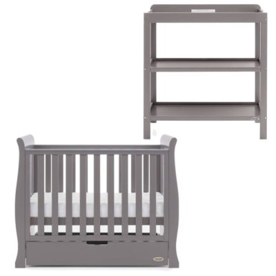 Obaby Stamford Space Saver 2 Piece Room Set - Taupe Grey
