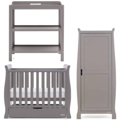 Obaby Stamford Space Saver 3 Piece Room Set - Taupe Grey