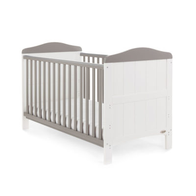 Obaby Whitby 2 Piece Room Set - White with Taupe Grey 2