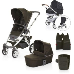 abc design salsa 4 pram puschair carrycot package deal leaf