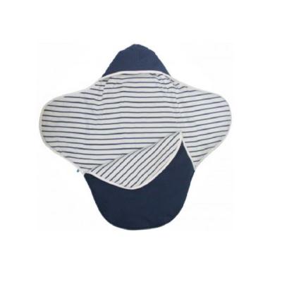 Wallaboo Coco Blanket Blue Stripe