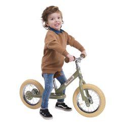 Trybike - Steel 2 In 1 Balance Bike Vintage Green