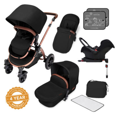 ickle bubba V4 special edition all in one travel system black on bronze