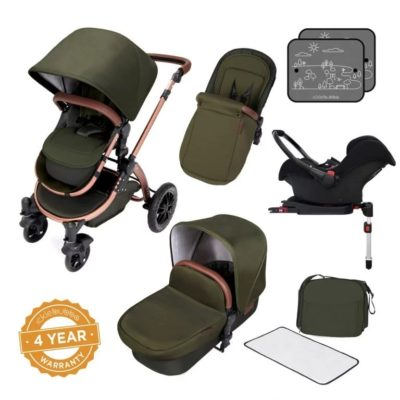 Ickle Bubba Stomp V4 All in One Isofix Travel System - Woodland Bronze