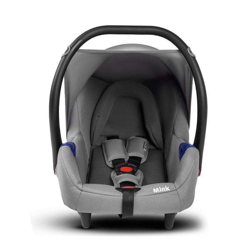 kinderkraft mink travel system 3 in 1 grey 0+ car seat