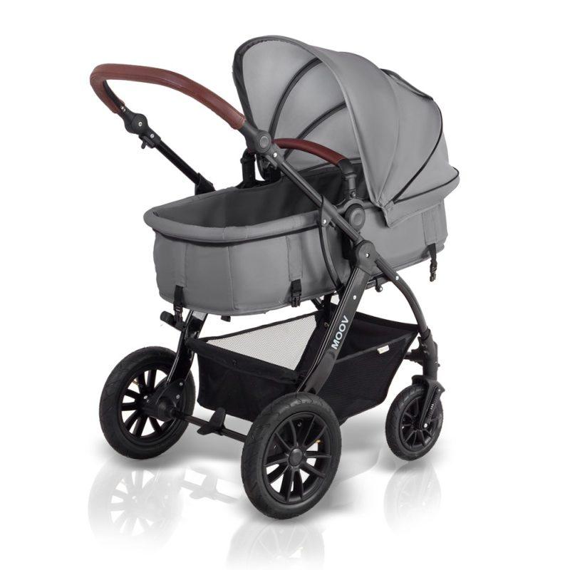 kinderkraft moov 3 in 1 travel system pram grey