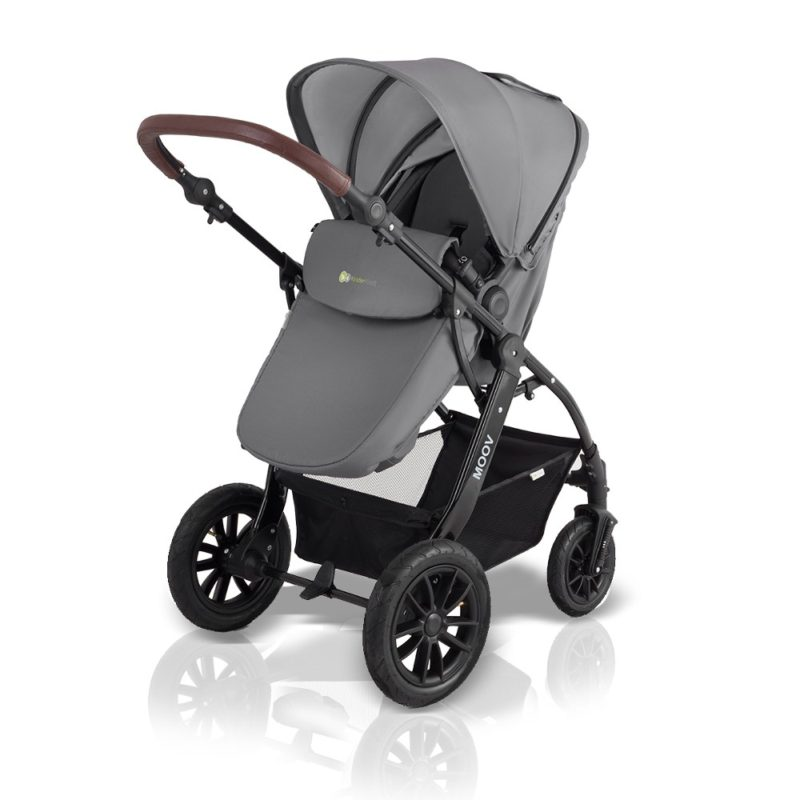 kinderkraft moov 3 in 1 travel system pushchair grey