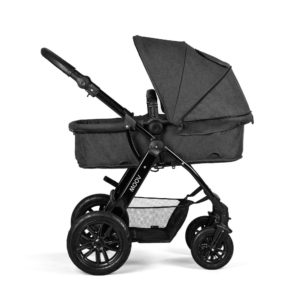 kinderkraft moov pram graphite grey