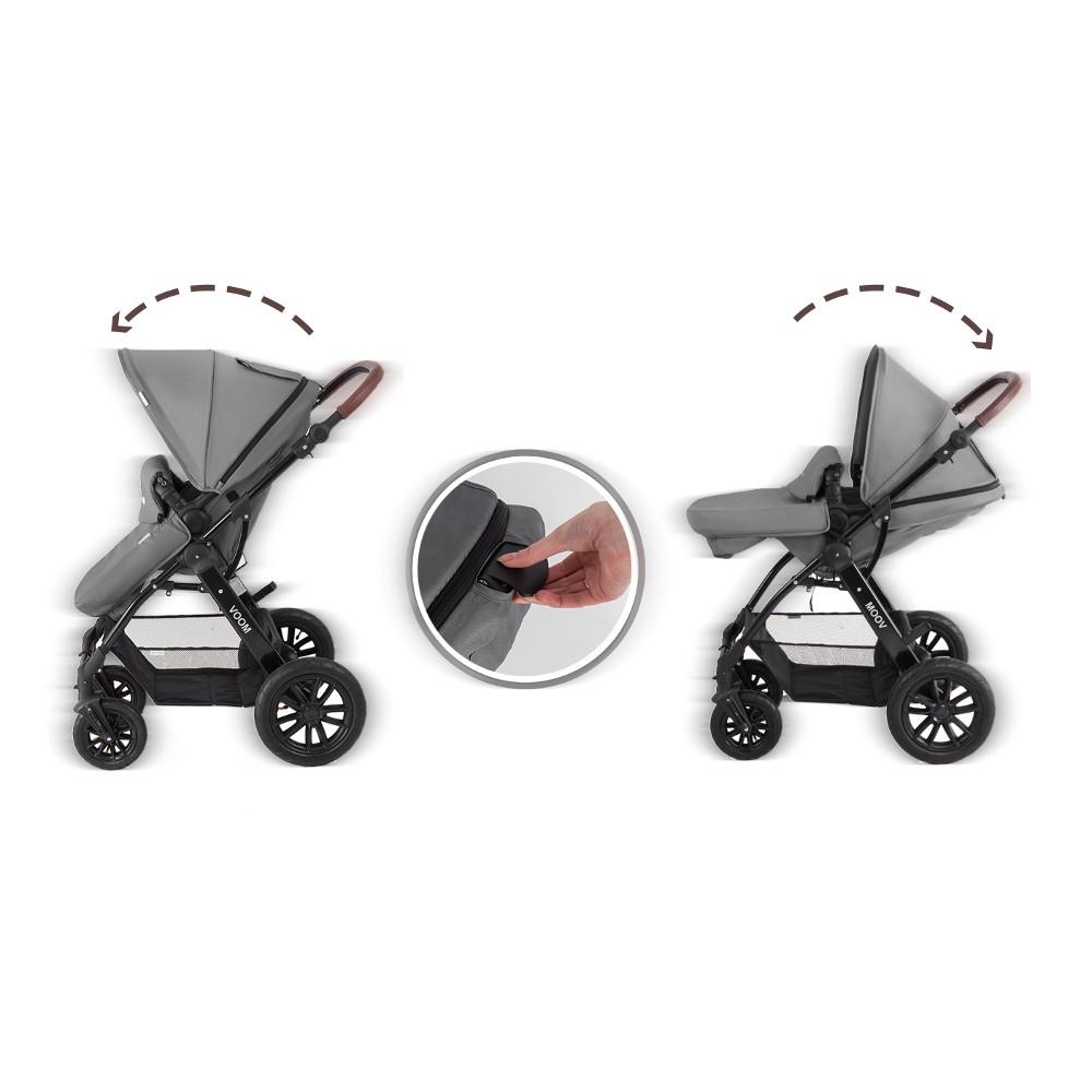 Kinderkraft Moov 3 In 1 Travel System Grey Smart Kid Store