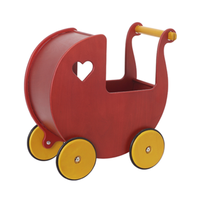 moover dolls pram red birch veneer