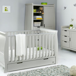 obaby stamford classic 3 piece nursery room set warm grey