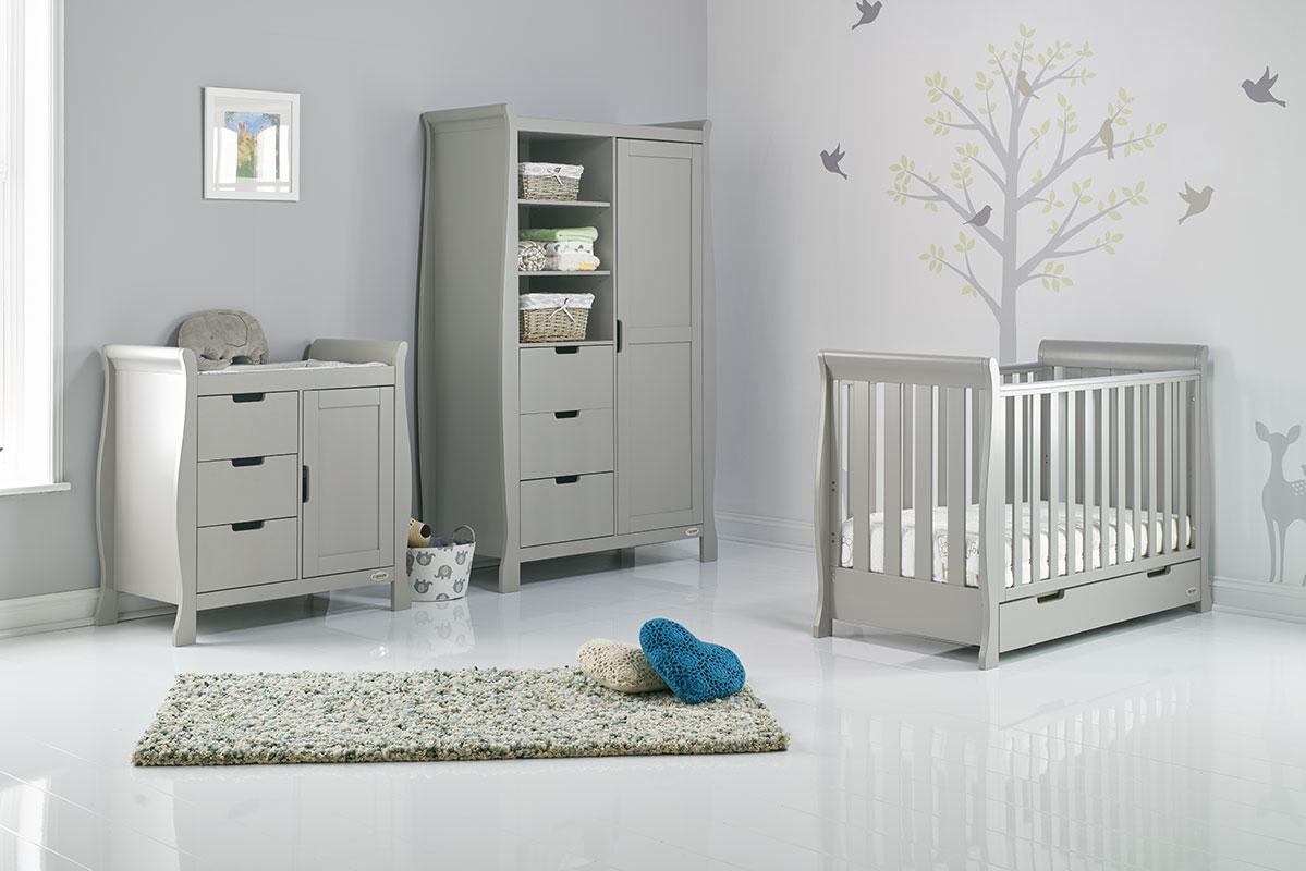 Ordinaire Obaby Stamford Classic Mini 3 Piece Nursery Room Set Warm Grey