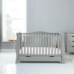 obaby stamford luxe nursery room set warm grey