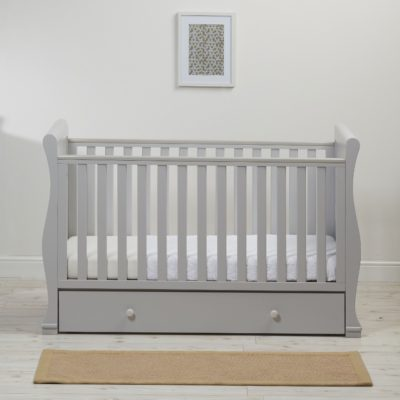 East Coast Alaska Sleigh Cot Bed - Grey