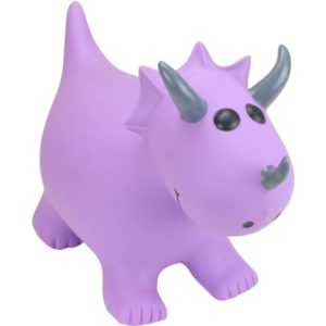 Happy Hopperz Purple Triceratops