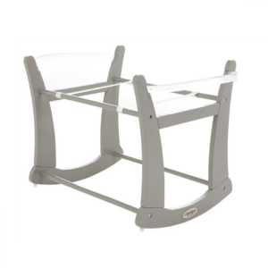 rocking moses basket stand taupe grey