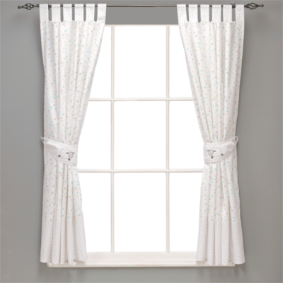 Silver Cloud Counting Sheep Lined Curtains