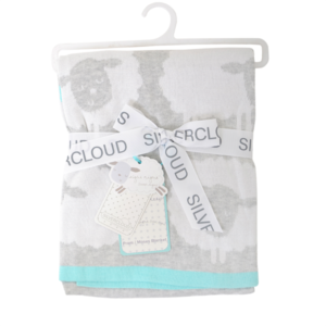 Silver Cloud Counting Sheep Blanket
