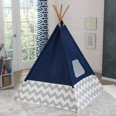 teepee_-_navy_with_gray_and_white_chevron__kidkraft