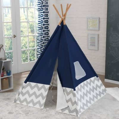 teepee_-_navy_with_gray_and_white_chevron_kidkraft