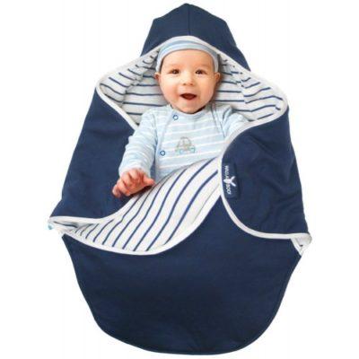 Wallaboo Baby Blanket Coco - Blue Stripe