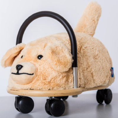 wheely bug plush dog