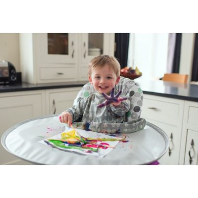 HippyChick Tidy Tot Bib & Tray Kit - Grey